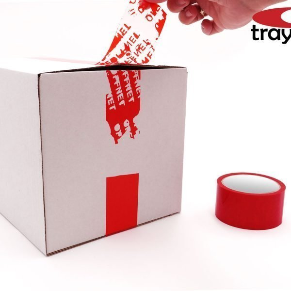 Cinta adhesiva de seguridad inviolable