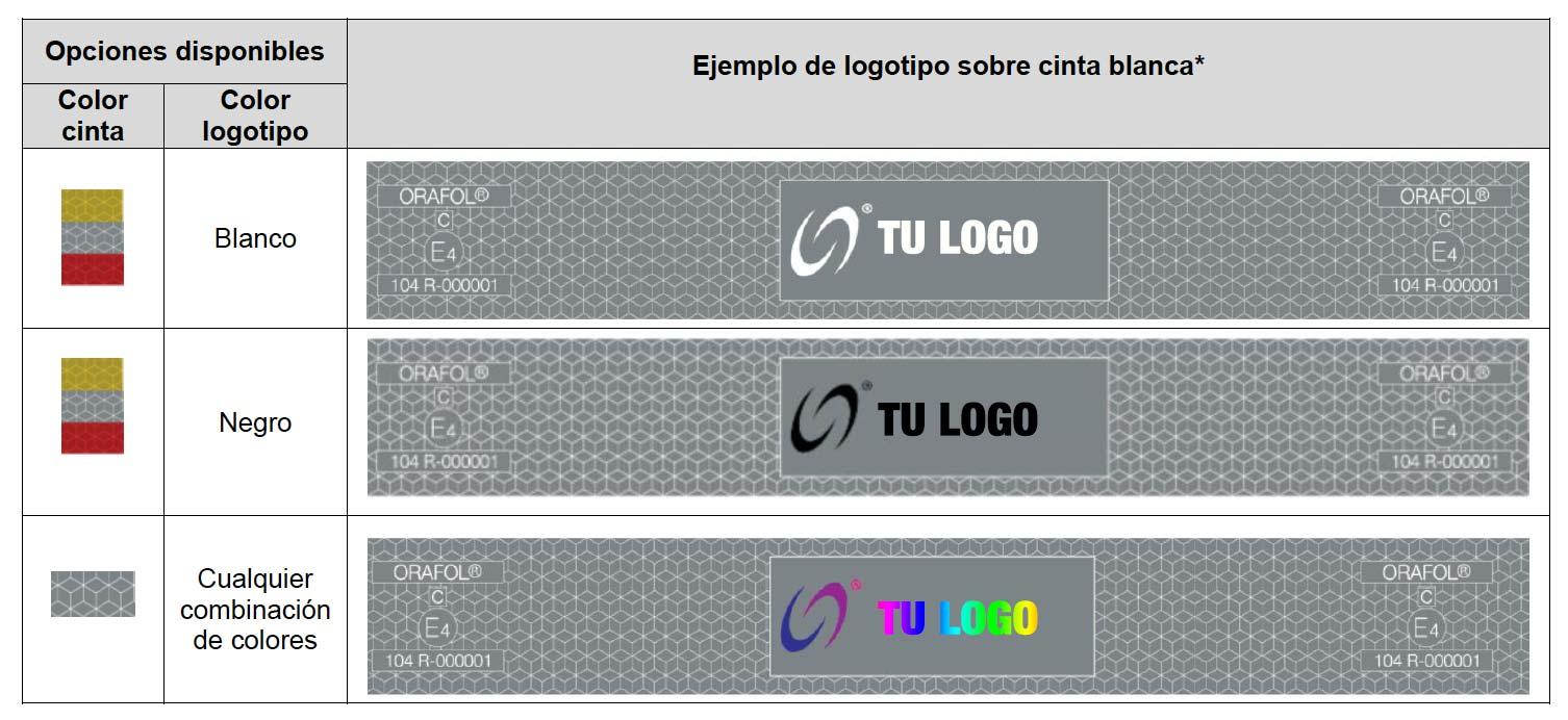 Cinta reflectante para camiones y remolques personalizada con el logo
