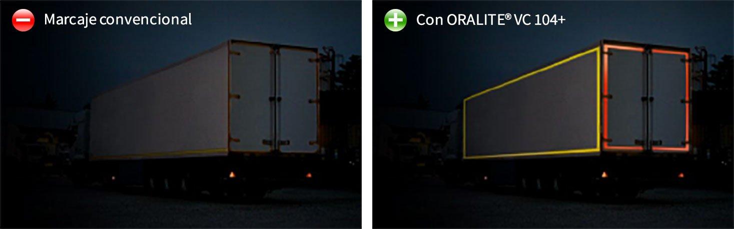 Cinta adhesiva reflectante personalizada para camiones y remolques Orafol REFLEXITE VC104 + Imagine EVO