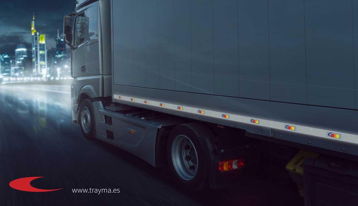 Señal V23 personalizada para señalización y balizamiento de remolques y camiones