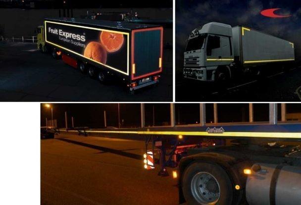 ORALITE VC 104+ Imagine Evo - Cinta adhesiva reflectante para camiones con lados RÍGIDOS (PERSONALIZADA CON TU LOGO)