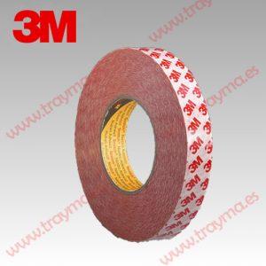 3M 9088 FL Cinta adhesiva de doble cara resistente a la temperatura - 25 mm, Pack 6 unidades (10% dto.)