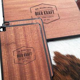 Funda ipad madera personalizada