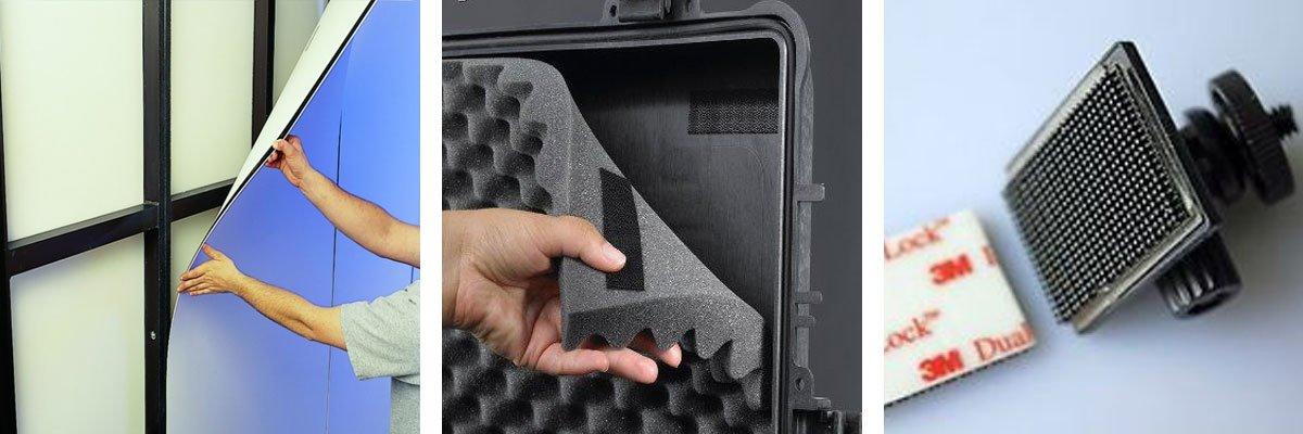 Aplicaciones Velcro Dual Lock