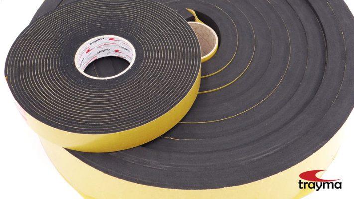 Espuma EPDM cortada a medida con adhesivo