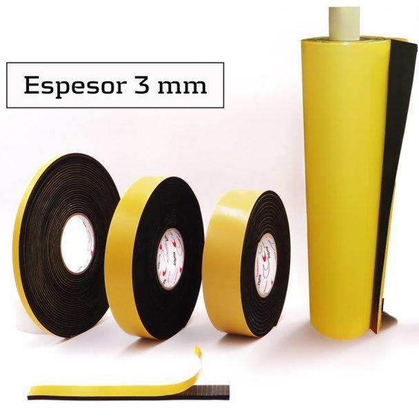 Burlete Adhesivo EPDM espesor 3 mm - Trayma