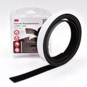 Velcro extrafuerte 3M Dual Lock SJ354b negro