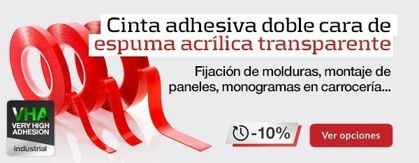 Banner promo cinta adhesiva espuma acrilica