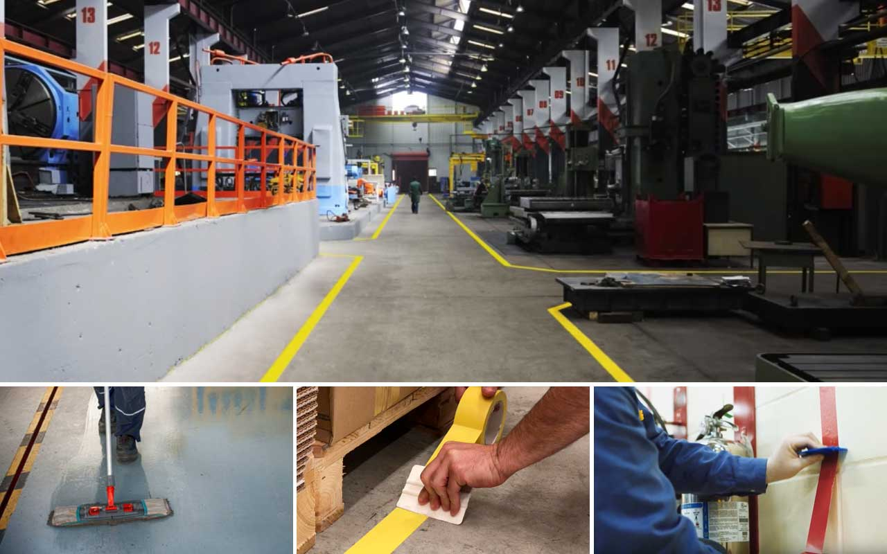 Marcaje de suelos industriales. Colores de seguridad, normativa, productos, guía de instalación