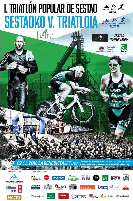 Cartel oficial I Triatlón Popular de Sestao