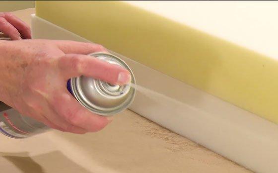 Spray para el pegado de espumas