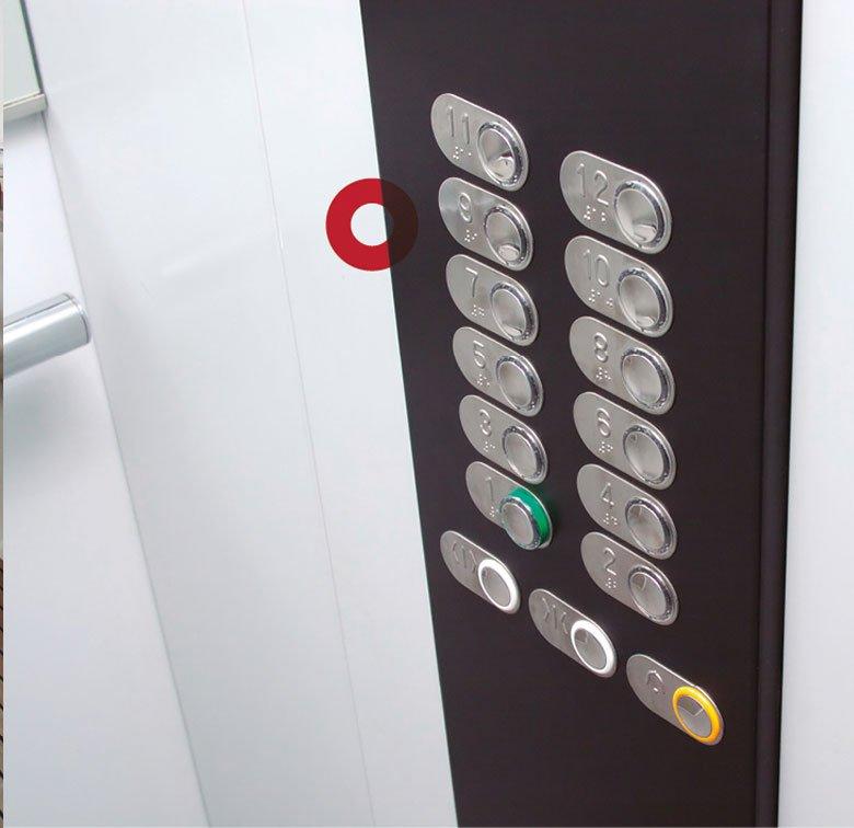 Fijación de paneles removibles de ascensores y elevadores con cinta Velcro Alfa-Lok