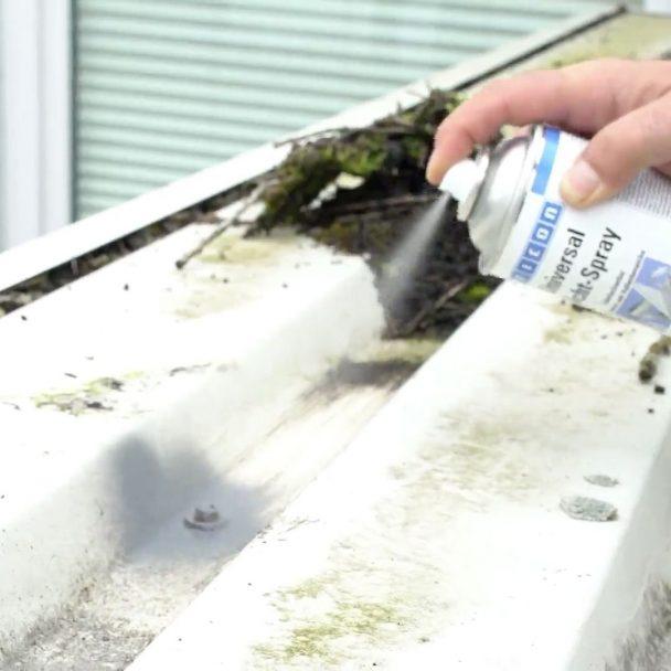 Reparación de fugas en canalones y desagües con sellador en spray