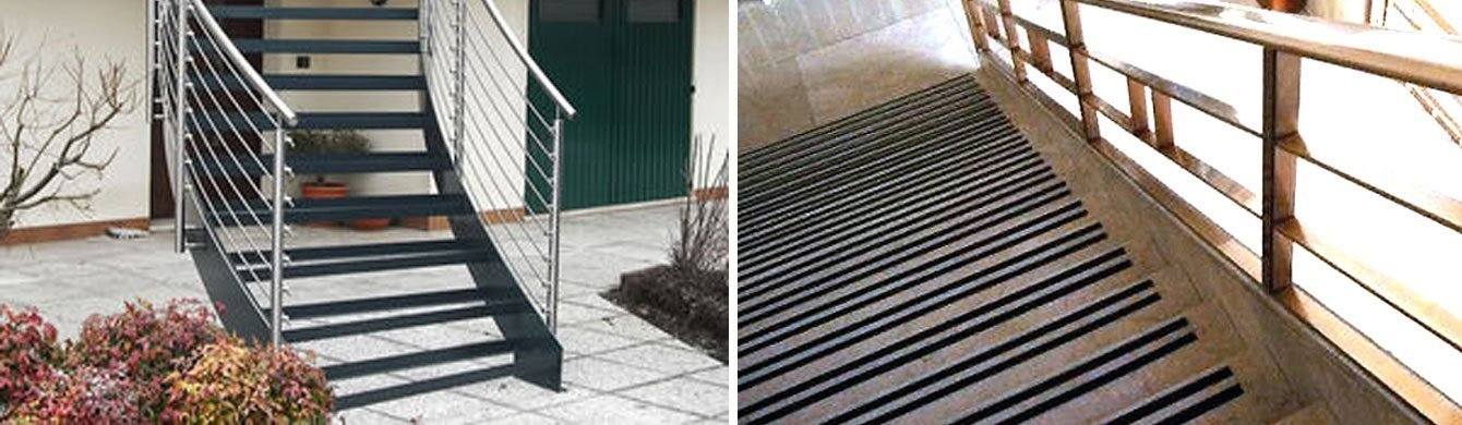 Prevención de accidentes en escaleras con cintas antideslizantes