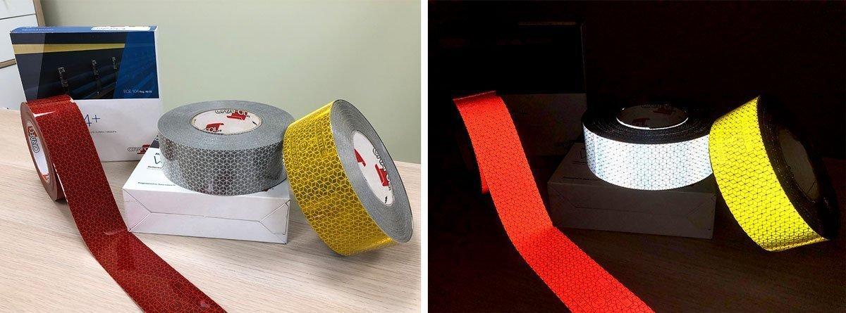 Cómo es una cinta adhesiva reflectante para camiones