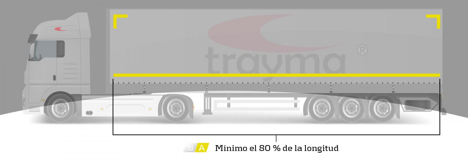 Como marcar el camión con bandas reflectantes