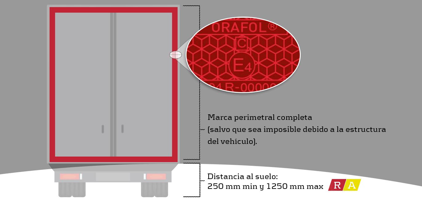 Como marcar un camion con reflectante