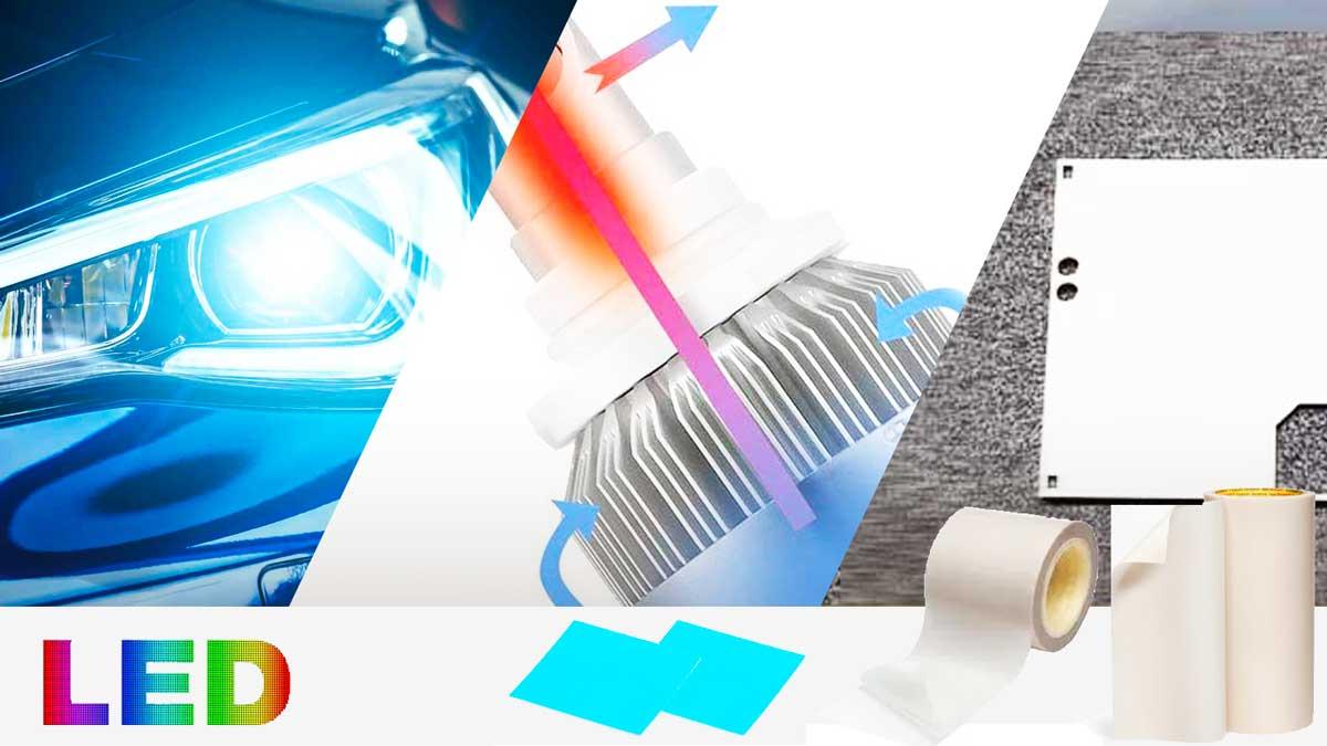 Cinta adhesiva termoconductora para LED disipar calor