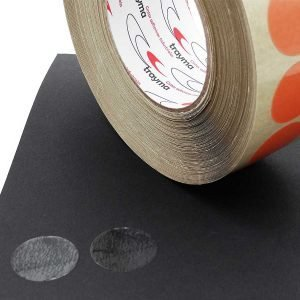 Círculos adhesivos troquelados transparentes de doble cara