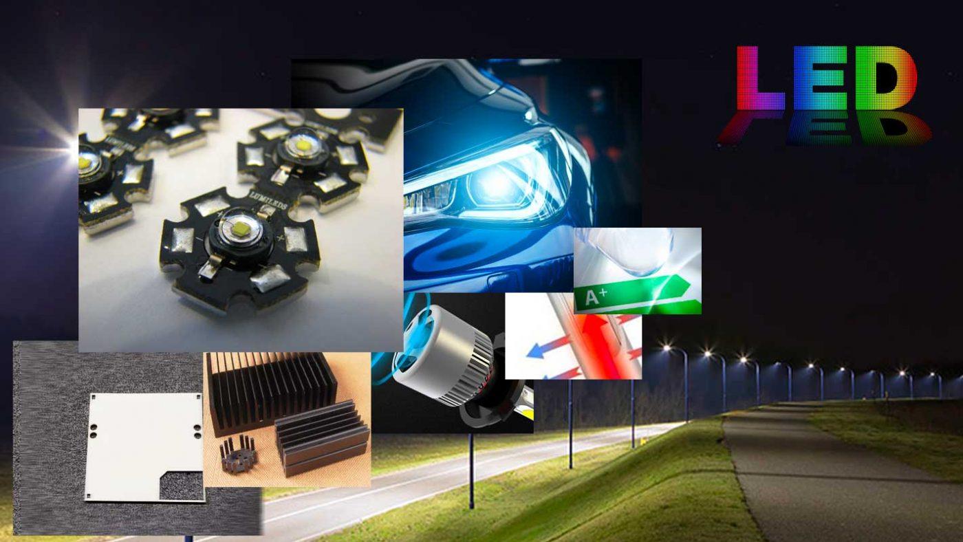 Disipadores de calor para LED de alta intensidad. Ensamblaje con espuma acrílica