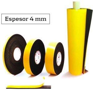 Burlete adhesivo espuma EPDM 4 mm de espesor