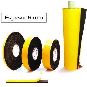 Burlete adhesivo espuma EPDM 6 mm de espesor
