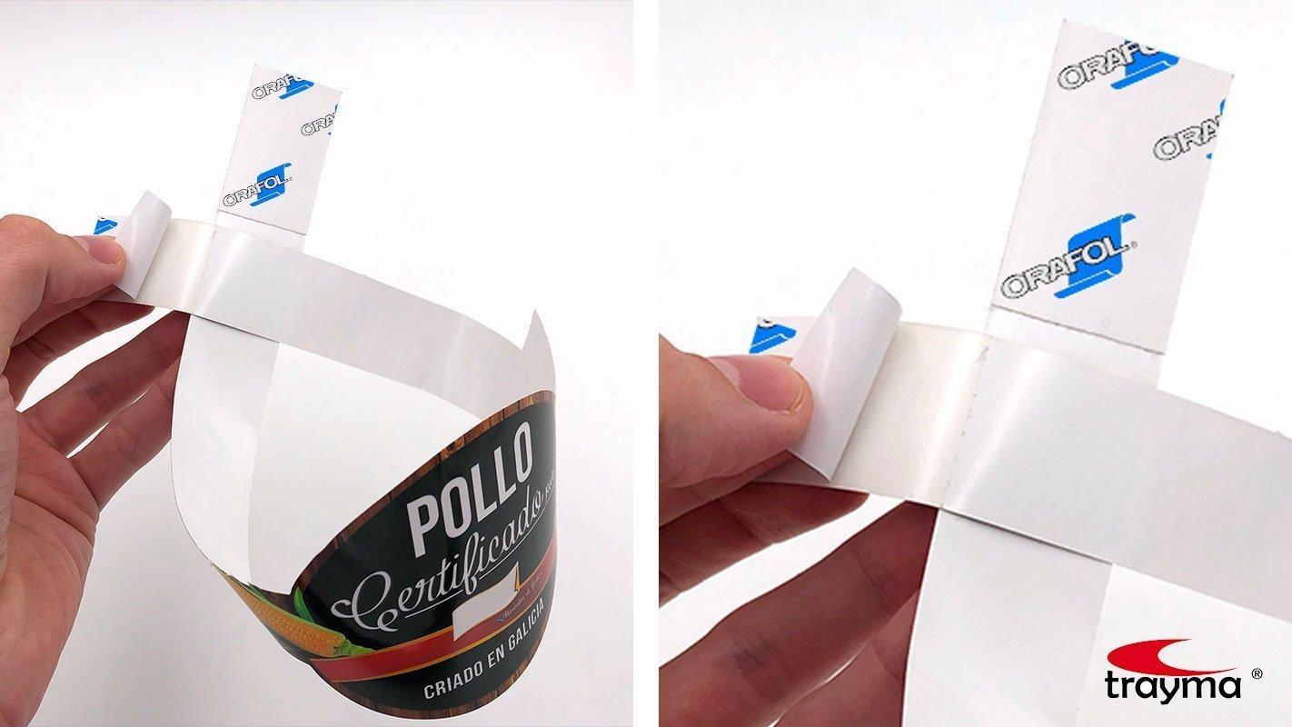 Cinta adhesiva para pegar vitolas