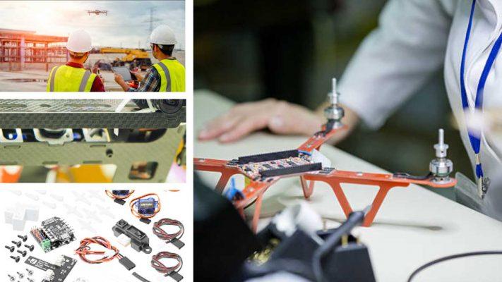 Cinta adhesiva y adhesivo para drones