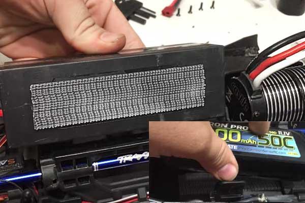 fijación de baterias en drones con 3M Dual Lock o Velcro Alfa-lok