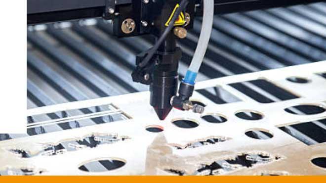 Corte laser de materiales adhesivos