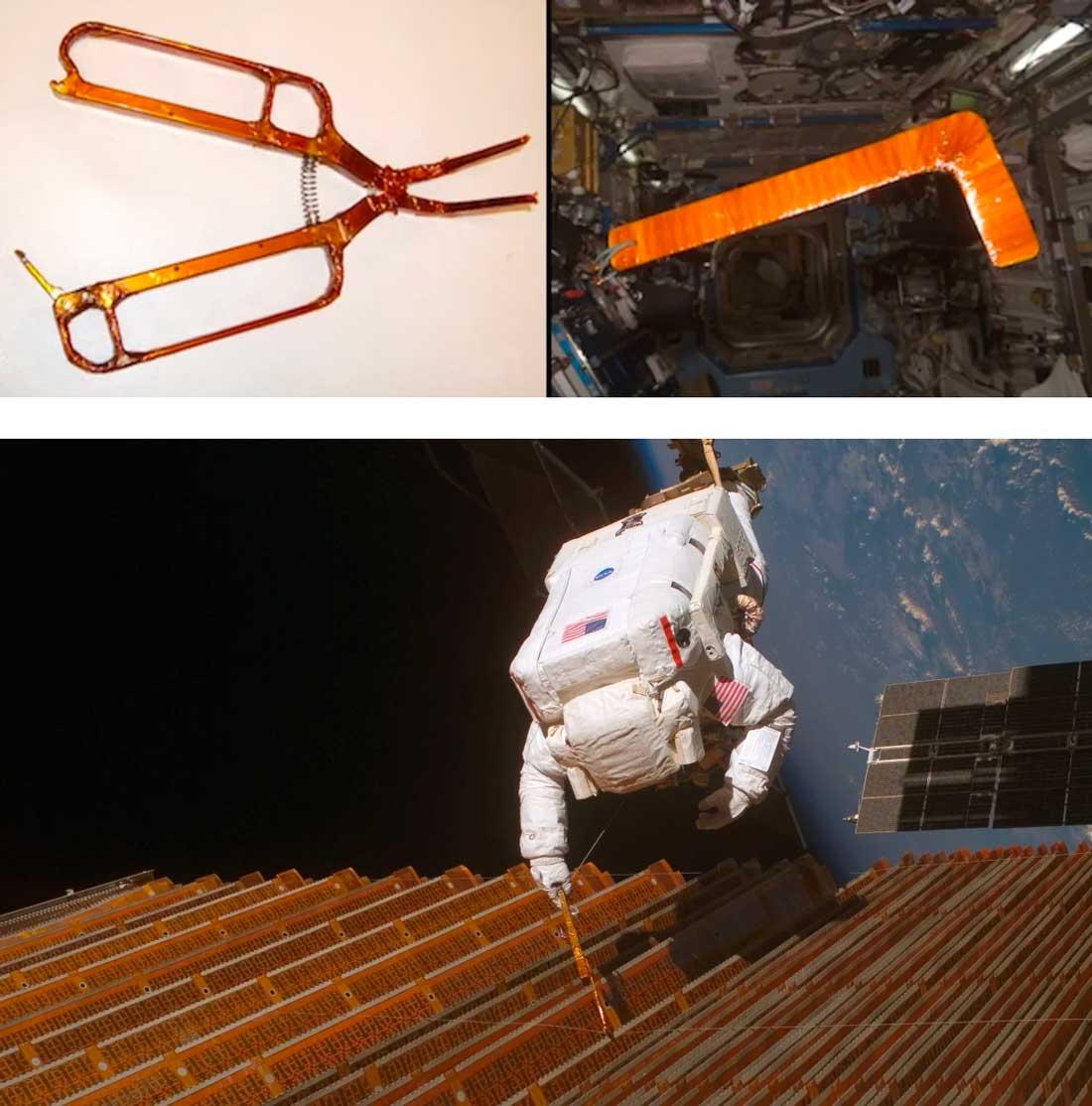 Empuñadura Aislante creada con Kapton para una herramienta, para un EVA.