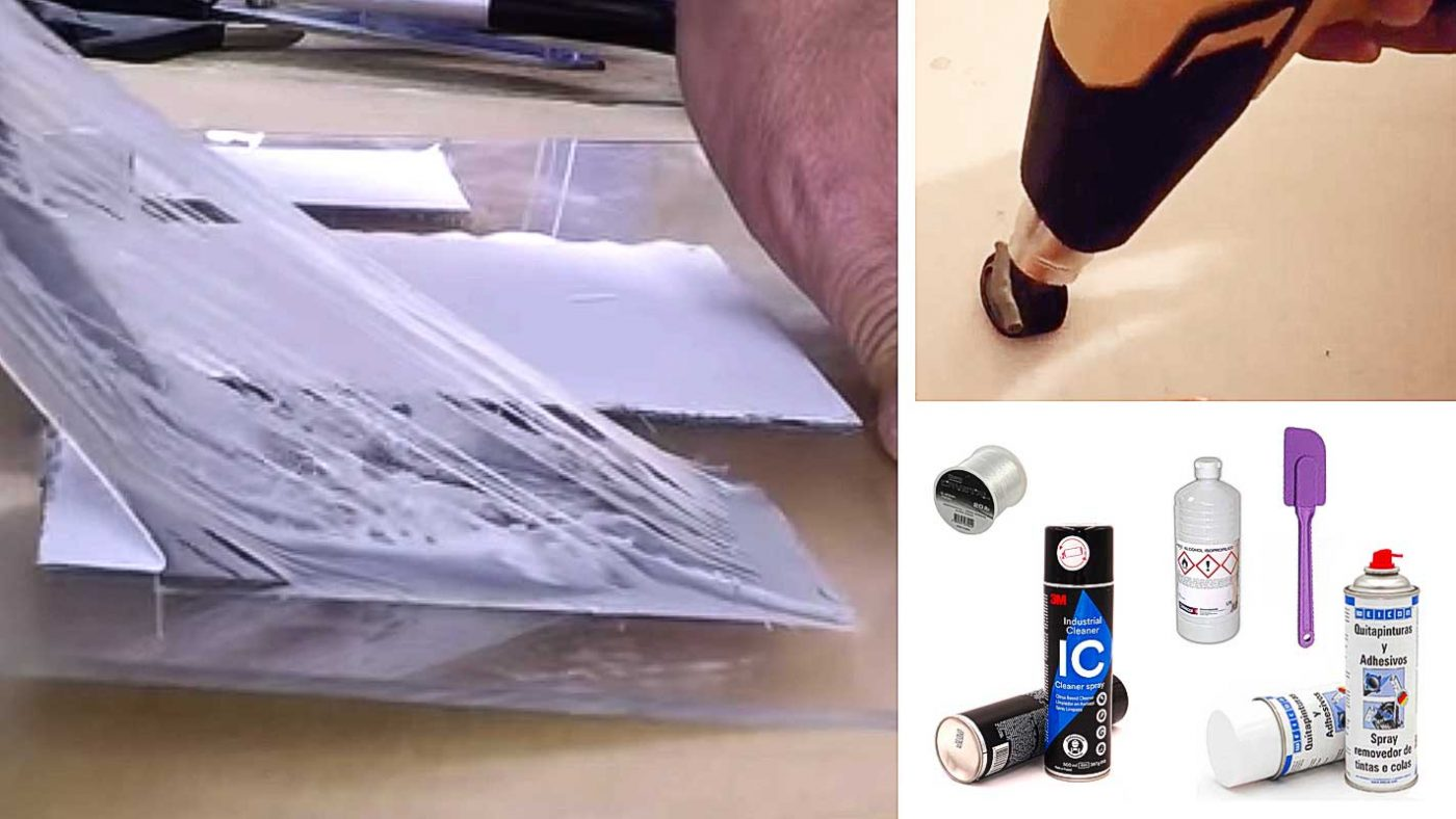 Quitar cinta adhesiva de espuma