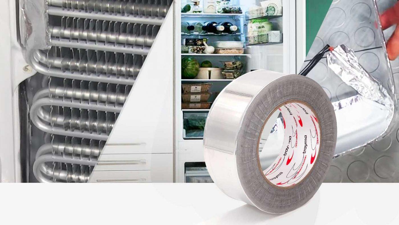 Cinta adhesiva de aluminio para congeladores y frigorificos