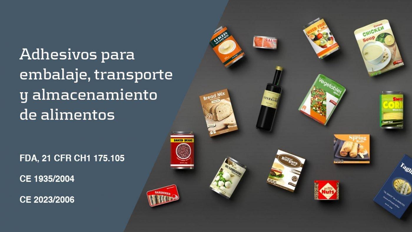 Adhesivos para el embalaje de alimentos
