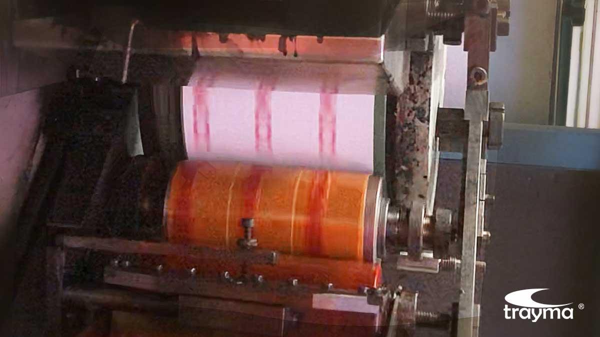 Cliché durante la impresión