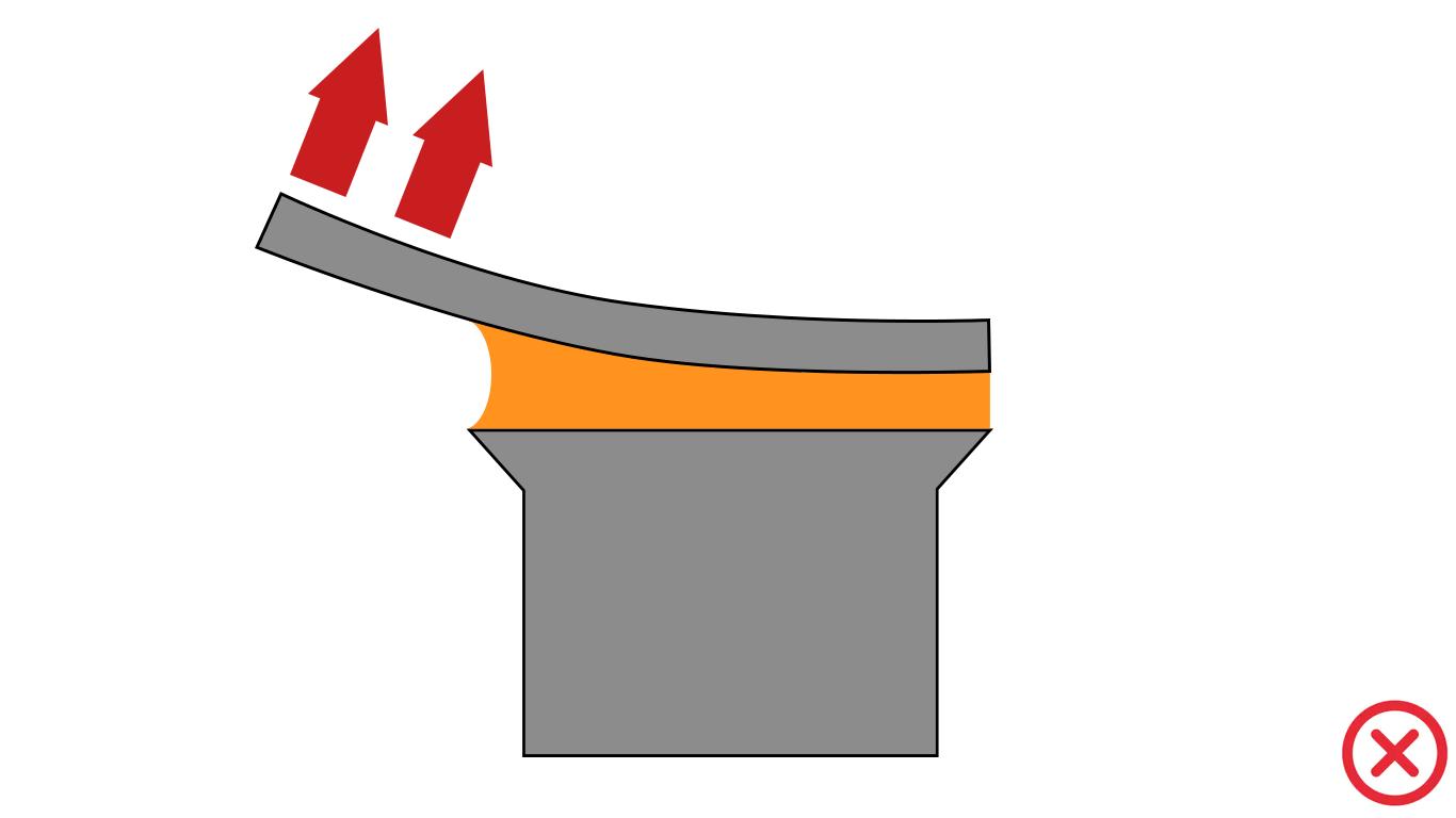 Estrés de cinta adhesiva por despegado