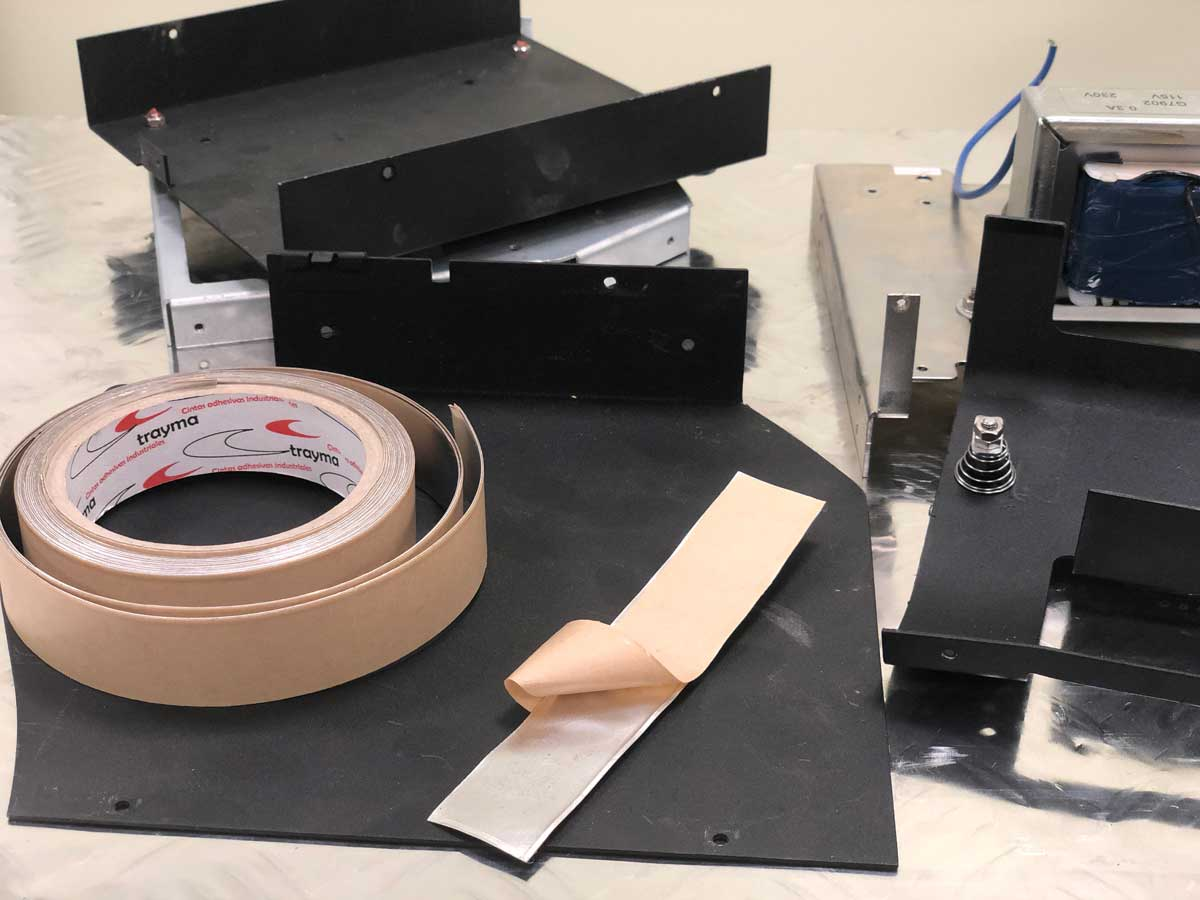 Aplicaciones Damping Foil para controlar ruido producido por vibración