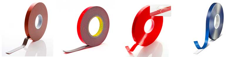 Cintas adhesivas de espuma acrílica de diferentes fabricantes