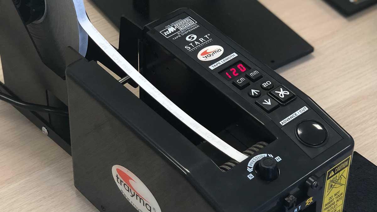 Dispensador automático de cinta adhesiva con display - zcm1000 ns start international