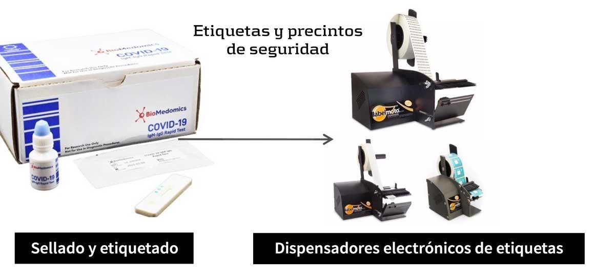Dispensadores electrónicos de etiquetas para la industria médica y farmacéutica