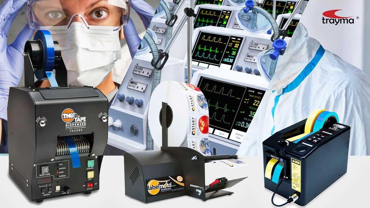 Maquinas de corte y envasado para la industria médica y farmacéutica