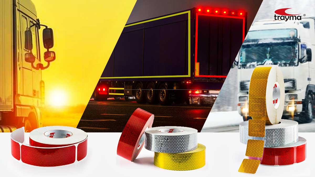 Cinta reflectante camiones V23