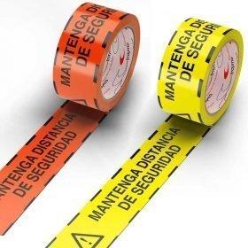 Cinta adhesiva marcaje de suelos mantenga distancia de seguridad