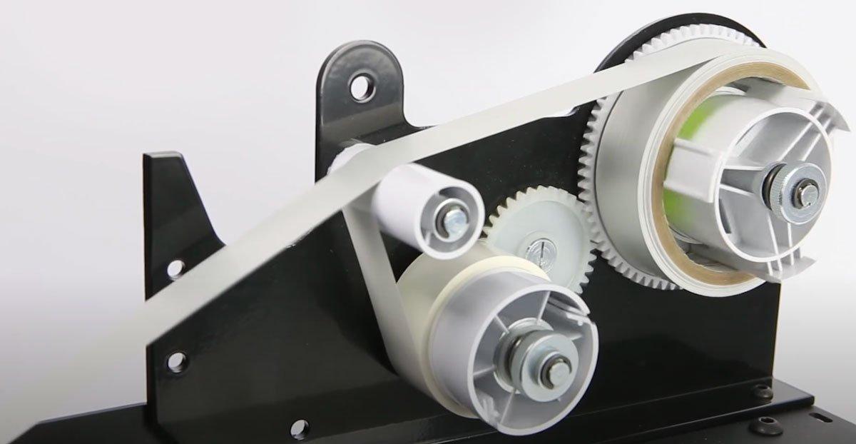 Dispensador automático de cinta adhesiva START INTERNATIONAL con retirada del protector liner y rebobinado inverso