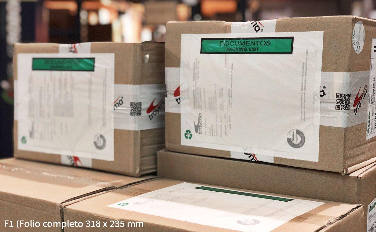 Sobres adhesivos de packing list para albarán