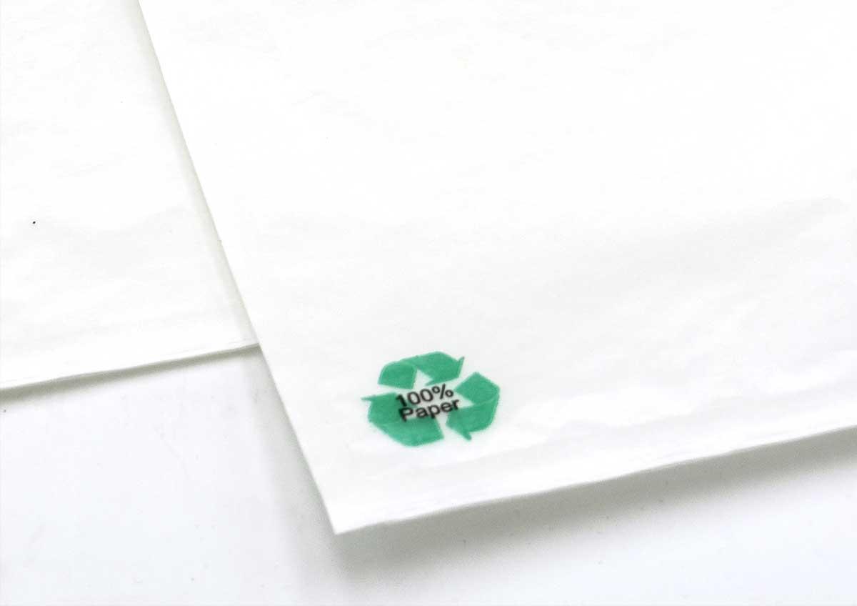 Sobres portadocumentos adhesivos de papel ecológicos documentos packing lista en verde