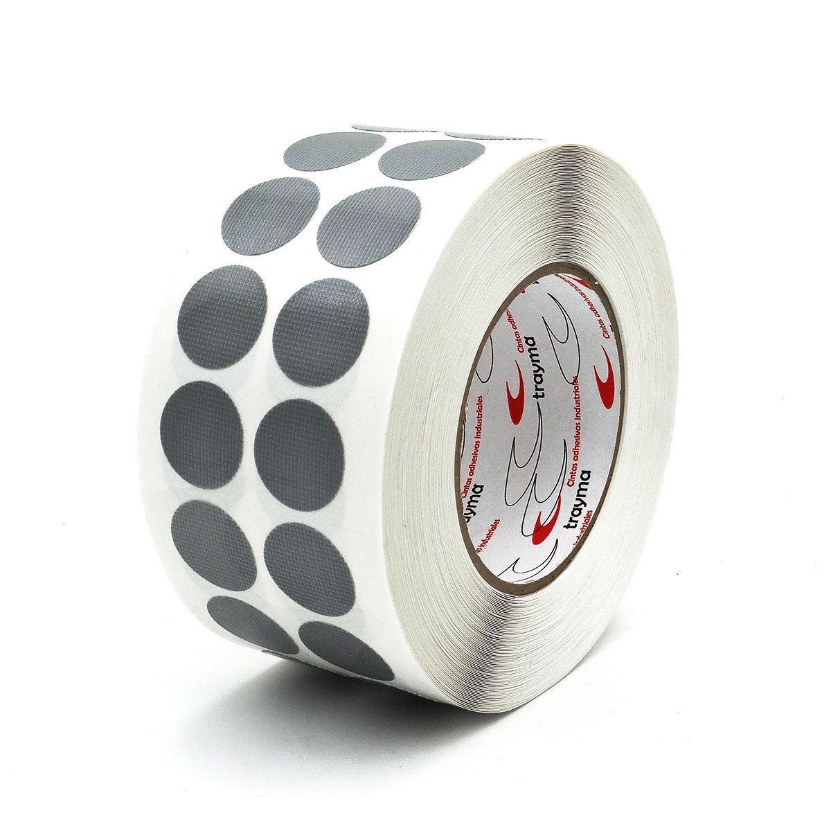 Círculos adhesivos de cinta americana gris