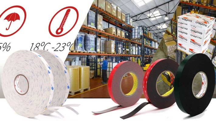 Recomendaciones de conservación calor frío cintas adhesivas