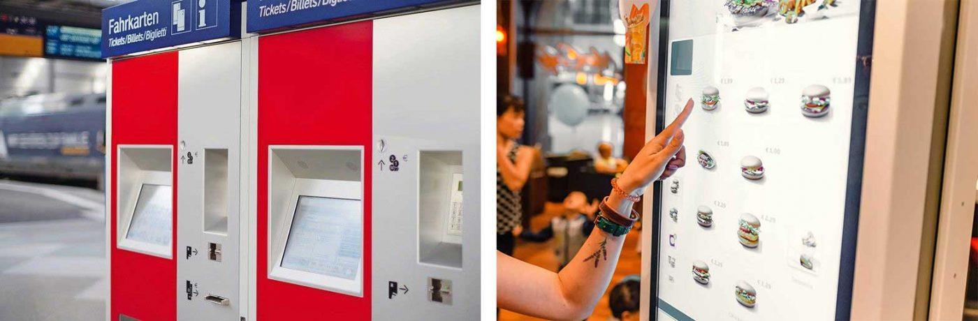 lámina antibacterias y anti-rayones para kioskos de comida rápida y pantallas táctiles de lugares públicos