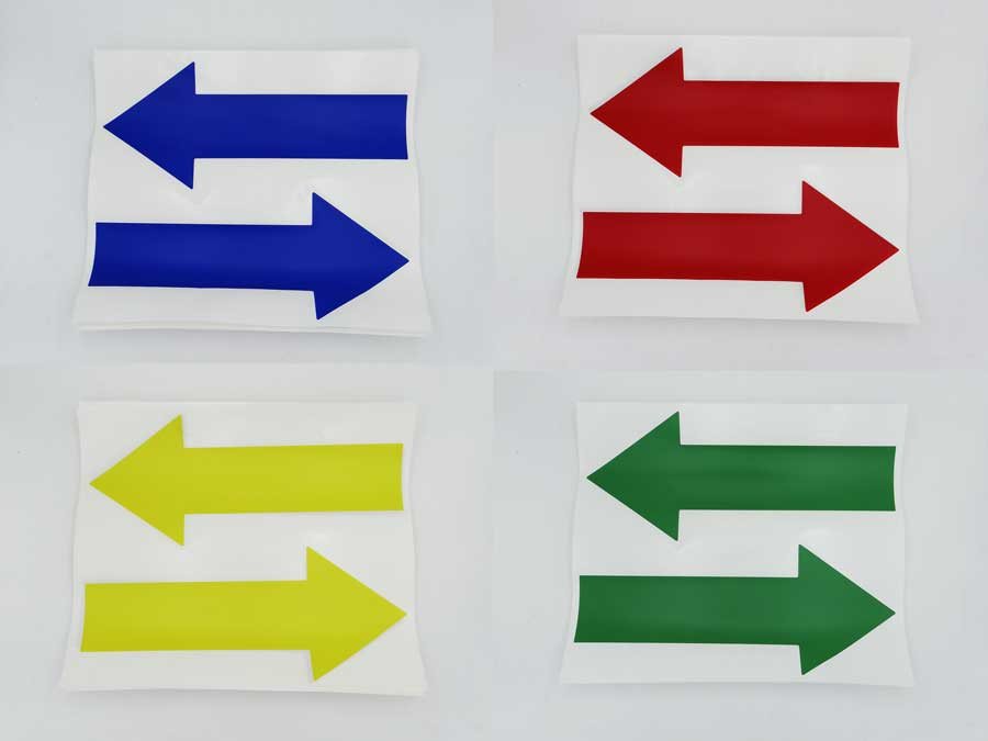 Flecha señalización colores